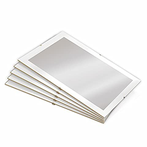 Clip Frame for Picture 30x30 cm (Approx 12x12 inch) Set of 5 * For Home and Office * High Quality Photo Poster Frames