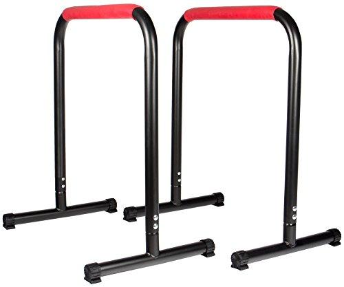 SportPlus - Barres Parallèles Fitness / Gym / Musculation - Barres Parallèles Hautes pour Dips, Pompes etc. - Musclent et gainent Pectoraux, Jambes, Ventre, Biceps, Triceps, Cuisses etc.