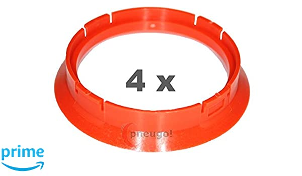 4 x Zentrierringe Kunststoff 71.6mm auf 67.1mm schwarz