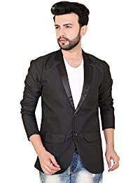 A.B.C. Garments Solid Single Breasted Casual, Men Blazer Viscose