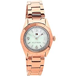 Tommy Hilfiger Hadley Women's Quartz Watch with Mother of Pearl Dial Analogue Display and Rose Gold Bracelet 1781553