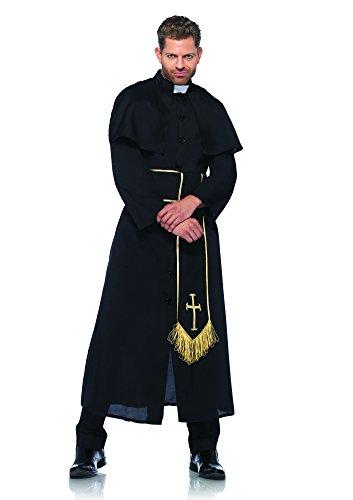 Leg Avenue 85334 - Priest Kostüm Set, 2-teilig, Größe M/L, schwarz