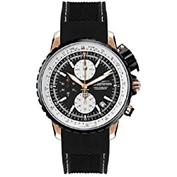 Thunderbirds - Fighting Black Rose Gold Chronograph Silicon Band Ref Tb10 .