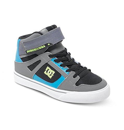 DC Shoes Spartan High Ev, Baby Jungen Krabbelschuhe, Grau (black/armor/turquois),  38 EU