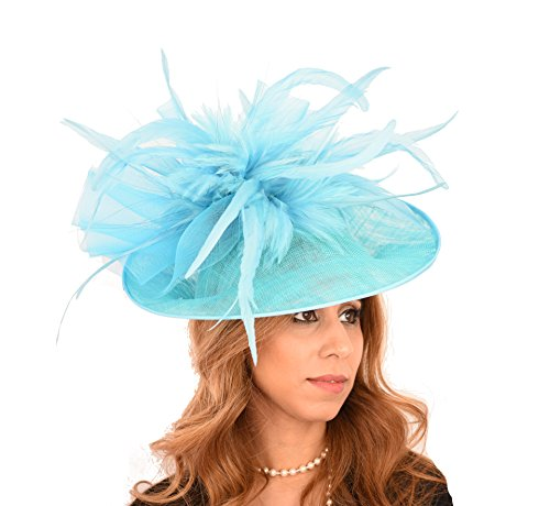 Superbe Nœud Buse Ascot mariage Derby Hat–Disponible Dans 40couleurs Or - Metallic Gold