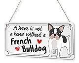 Beenanas - Placa Decorativa para Mascotas, diseño de Bulldog francés