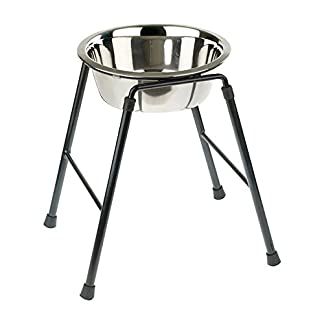 Classic Pet Products Single Feeder High Stand with 1600 ml Stainless Steel Dish, 300 mm Tall 7