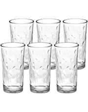 Amazon Brand - Solimo Alina Juice Glass Set, 245ml, Set of 6, Transparent