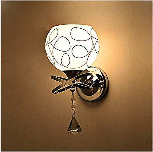 Glass Wall Light, Modern Wall Candle Light with Chrome Wall Mounted for Bedroom Living Room Kitchen - Chrome Socket Set