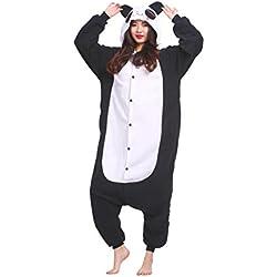 Magicmode Unisex Cosplay Disfraces De Animales Kigurumi Pijamas Adultos Enterizo Anime Sudadera Con Capucha Ropa De Dormir Tímido Panda L