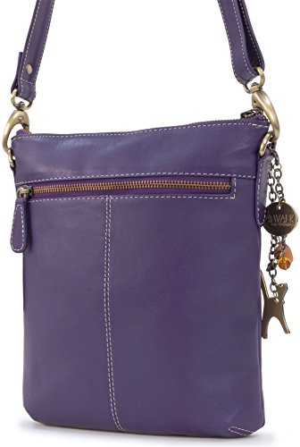 "Borsa in pelle a tracolla signé Catwalk Collection ""Laura"" Viola"
