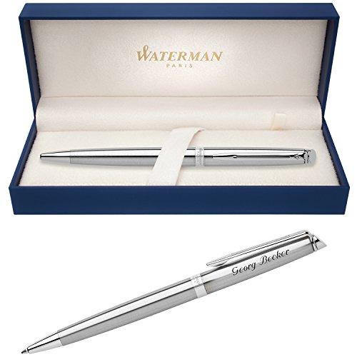WATERMAN Kugelschreiber HEMISPHERE Essential Edelstahl C.C. S0920470 mit persönlicher Laser-Gravur (Essentials Geschenk)