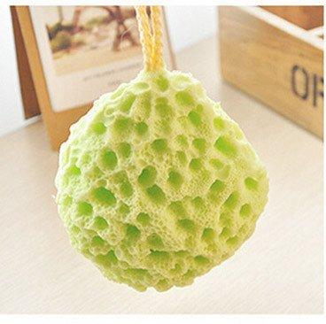 MUMENG Hydrophiler Baumwolle Kinder Baby-Dusche Badeschwamm Weiche grüne keine Stimulation (Grün) (Kinder Dusche)