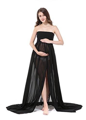 Modern Pregnant Women Photography Props, Vestido de maternidad Split V