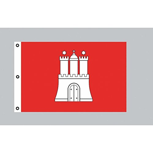 Riesen-Flagge: Hamburg 150cm x 250cm