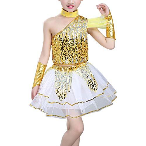 Für Jungen Ballroom Kostüm - Daytwork Childrens Sequin Ballroom Jazz Dancewear - Kinder Bequem Rock Bühnentanz Kostüme Street Dance Modern Hip Hop Jungen Mädchen Clothing Set