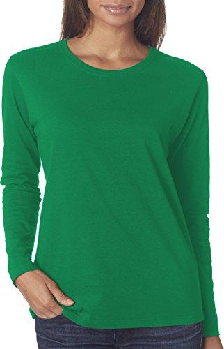 Maglietta in cotone resistente 5,3 G. Long-T-Shirt maniche Irish Green