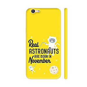 Colorpur Astronauts are Born in November Printed Back Case Cover for Vivo Y55s