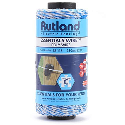 Rutland 12-115R Essentials-Filo per Recinzioni Elettriche, Bianco, 18x10.5x10.5 cm