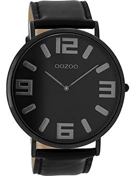 Oozoo Vintage Herrenuhr Lederband 47.5 MM Black/Schwarz/Schwarz C8859