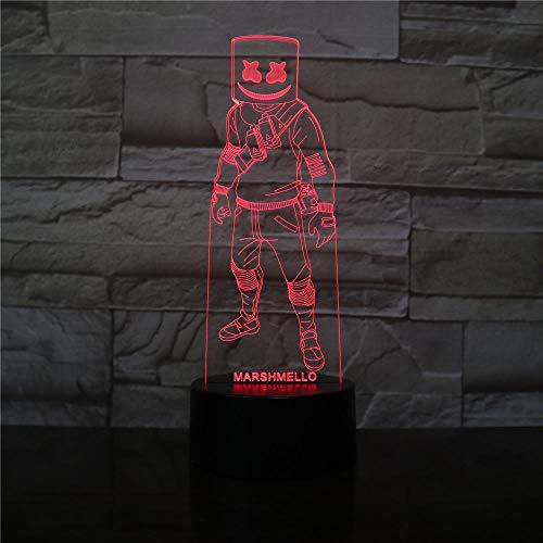 Led Nachtlichter Usb Haut Figur Neuheit Nachtlichter Für Kinder Familie Dekor Kinderspiele 3D Led Licht Marshmallows