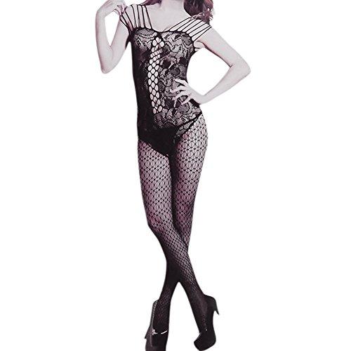 LAEMILIA Femme Combinaison Lingeries Nuit Clubwear Pyjama Bandage Sans Manche Babydoll