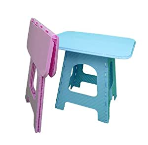 bleu en plastique solide pour pique nique camping pliante portable table de jardin pour enfant. Black Bedroom Furniture Sets. Home Design Ideas