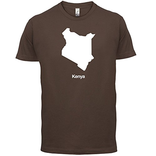 Kenya / Kenia Silhouette - Herren T-Shirt - 13 Farben Schokobraun