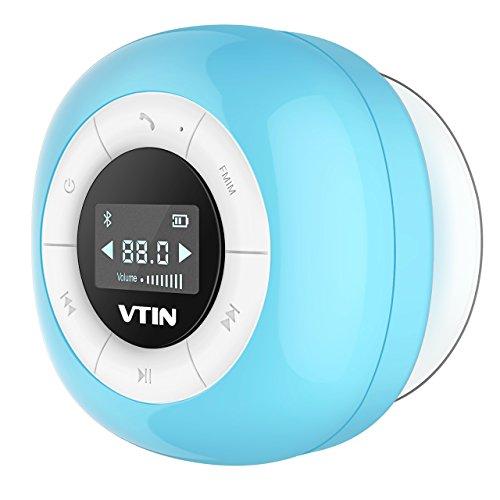 VTIN Mini Bluetooth 4.0 Lautsprecher Wasserdicht Wireless - Subwoofer Effekt für Handys