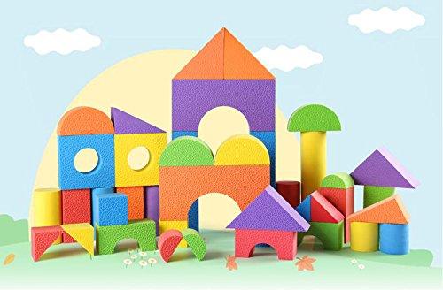 FEI Jouets Les enfants en mousse EVA Building Blocks éponge douce Building Blocks, jardin d'enfants 3-6 Ans Bloc de prendre la machine en bois jouets éducatifs pour enfants (une variété de tailles en option) Début Éducation ( taille : S )