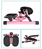 Lcyy-step Tragbarer Air Stepper Climber mit Bändern und LCD-Display für Home Workout Gym Pink