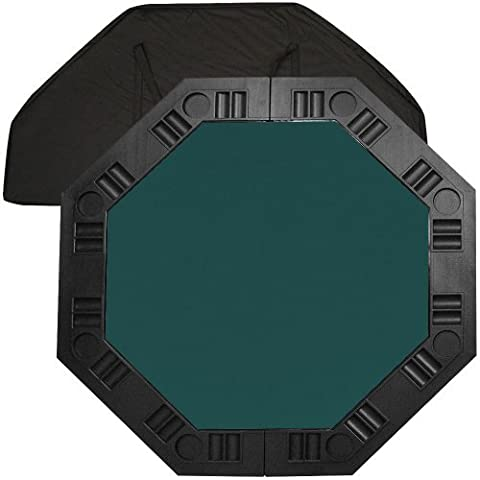 Trademark Poker 48-Inch 8-Player Octagonal Poker Tabletop (Dark Green) by Trademark Global