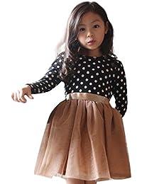 Vestido de invierno, RETUROM Niño lindo niñas bebé vestido de Gasa princesa rayas ...