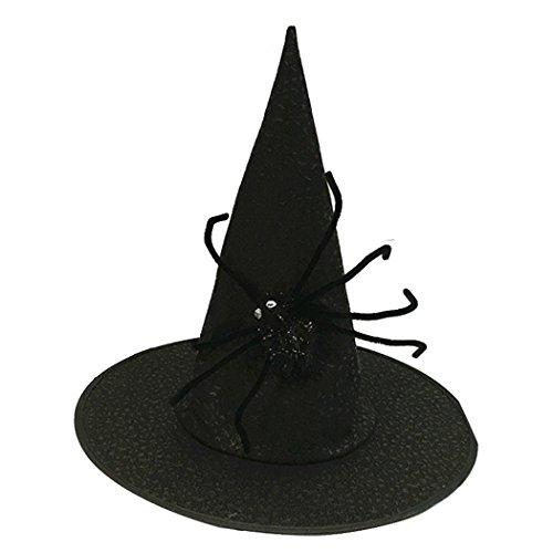 Zoylink Hexen Hut Halloween Partyhut Dekorativer Spinnen Dekor Nicht gesponnener Kostüm Hut (Halloween-dekor Spinnen)