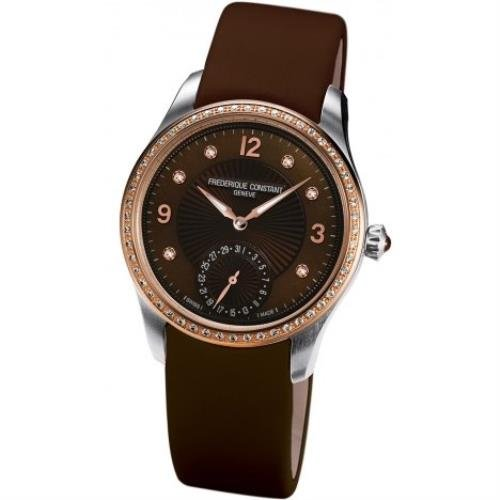 Frederique Constant FC-700MPCD3MDZ9 39mm Automatic Stainless Steel Case Brown Satin Anti-Reflective Sapphire Women's Watch