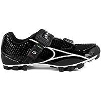 Spiuk Risko MTB - Chaussures unisexes, couleur noir/blanc, taille 39