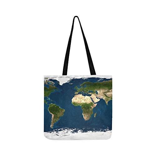 Extra Große Größe Physische Weltkarte SHAOKAO SHAOKAO Leinwand Tote Handtasche Umhängetasche Crossbody Taschen Geldbörsen Für Männer Und Frauen Einkaufstasche -