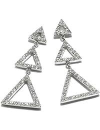Gioie Women's Earrings in White 18k Gold with Diamond H/SI, 6.2 Grams