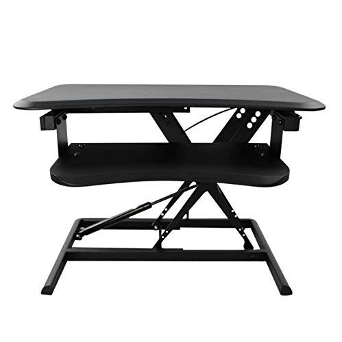 uter-Hubtisch Kostenlose Installation Schreibtisch-Tisch Schreibtisch-Arbeitstisch Klappstation Sit Alternate Computer Desk Pneumatisches Heben,Black ()