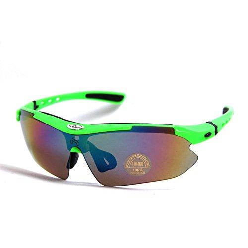 Inovey Windschutzscheiben-Schutzbrillen-Sport-Sonnenbrille-Reitbrille-Fahrrad-Gläser Polarisiertes Licht - Polarisiertes Grün