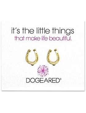 """Dogeared Ohrstecker """"It's The Little Things"""", Hufeisen, 925er Sterlingsilber mit 585er Vergoldung"""