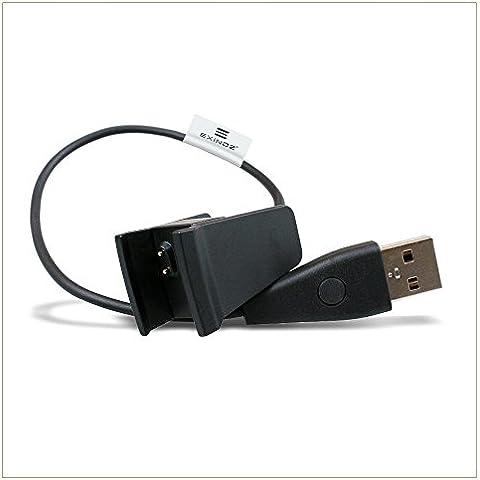 EXINOZ® Fitbit Cavo di ricarica USB sostitutivo. Alimenta il braccialetto sportivo wireless del tuo Fitbit Alta
