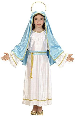 Widmann 00026 - Kinderkostüm Heilige Maria, Tunika, Gürtel, Kopfbedeckung mit Heiligenschein, Größe (Kostüme Maria Heilige)