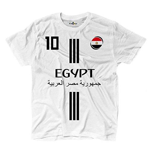 KiarenzaFD Camiseta Camiseta Fútbol 2Mohamed Selección Salah Egipto 10Shirts, KTS01872-L-white, Blanco, Large