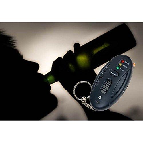 Prueba de alcohol llavero alcoholímetro digital NEGRO portátil de bolsillo multímetro mws912