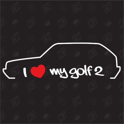 speedwerk-motorwear I Love My Golf 2 - Sticker, Bj. 83-92 (Golf Mk2)