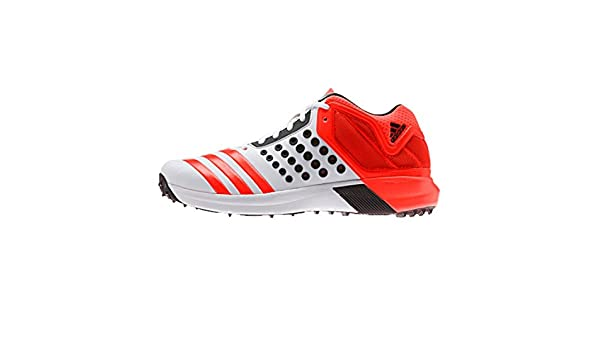 adidas Vector Mid White Solar Cricket, Bowling Schuhe, Rot