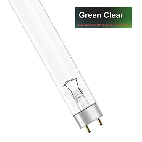 Genuine Green Clear 55W WATT UV BULB (55w) - REPLACEMENT T8 LAMP FOR POND UVC (ULTRA-VIOLET)