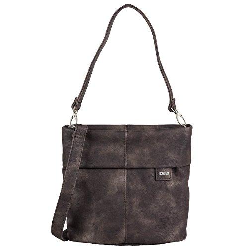 ZWEI Tasche Handtasche Damen MADEMOISELLE M8 Kunstleder, Farbe:mocca (Mocca Tasche)