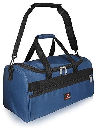 Roamlite Kleine Reisetasche Ryanair Zweites Handgepäck Tasche - Exakte Größe 40 cm x25 x20 - Kabinentasche Bordgepäck - Ultra Leichte 0,4 Kg - Handgepäcktasche für Ryan Air RL59N Blaue
